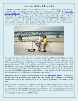 How does Electric Bike works