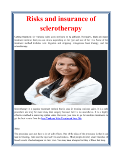 Risks and insurance of sclerotherapy