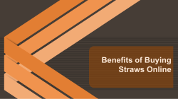 Benefits of Buying Straws Online
