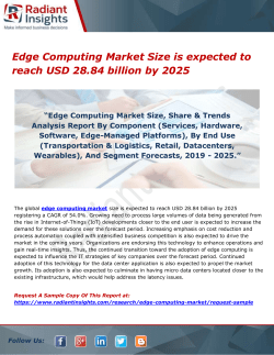 Edge Computing Market Size is expected to reach USD 28.84 billion by 2025