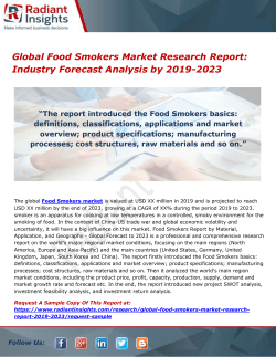 Global Food Smokers Market Research Report- Industry Forecast Analysis by 2019-2023