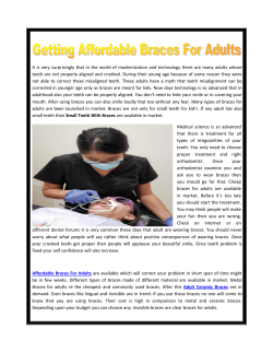 Getting Affordable Braces For Adults