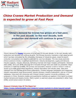 China Cranes Market Production and Demand is expected to grow at Fast Pace