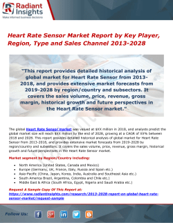 Heart Rate Sensor Market Report by Key Player, Region, Type and Sales Channel 2013-2028