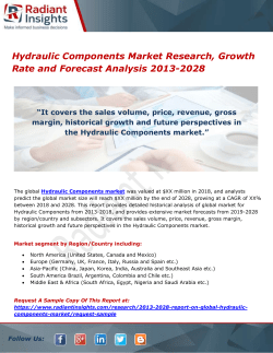 Hydraulic Components Market Research, Growth Rate and Forecast Analysis 2013-2028