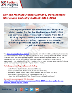 Dry Ice Machine Market Demand, Development Status and Industry Outlook 2013-2028