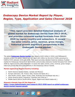 Endoscopy Device Market Report by Player, Region, Type, Application and Sales Channel 2028