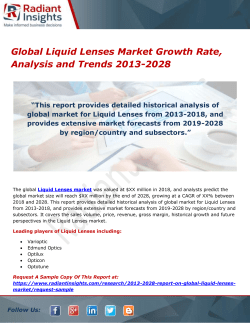 Global Liquid Lenses Market Growth Rate, Analysis and Trends 2013-2028