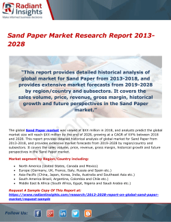 Sand Paper Market Research Report 2013-2028