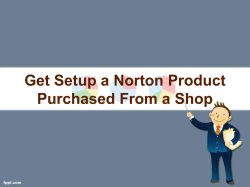 Get setup a Norton product purchased from a shop-converted
