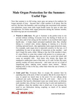 Male Organ Protection for the Summer - Useful Tips