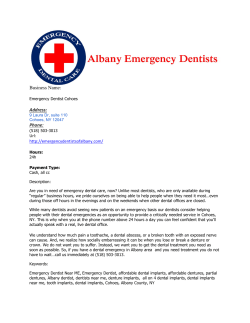 Emergency Dentist Cohoes