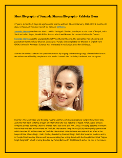 Short Biography of Sunanda Sharma Biography