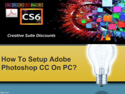 How To Setup Adobe Photoshop CC On PC-converted