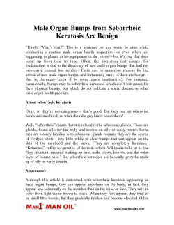 Male Organ Bumps from Seborrheic Keratosis Are Benign