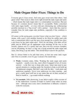 Male Organ Odor Fixes - Things to Do