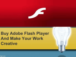 Buy Adobe Flash Player and make your work creative-converted