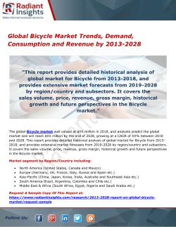 Global Bicycle Market Trends, Demand, Consumption and Revenue by 2013-2028