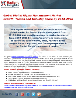 Global Digital Rights Management Market Growth, Trends and Industry Share by 2013-2028