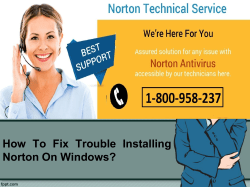 How To Fix Trouble Installing Norton On Windows