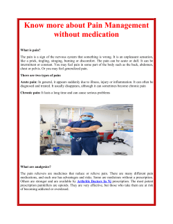 Know more about Pain Management without medication
