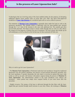 Is the process of Laser Liposuction Safe