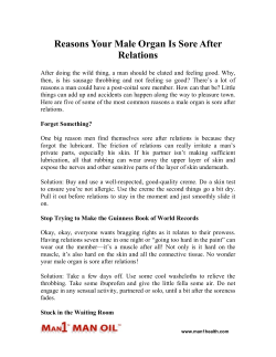 Reasons Your Male Organ Is Sore After Relations
