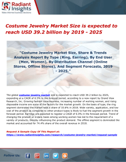 Costume Jewelry Market Size is expected to reach USD 39.2 billion by 2019 - 2025
