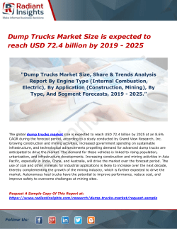Dump Trucks Market Size is expected to reach USD 72.4 billion by 2019 - 2025