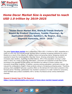 Home Decor Market Size is expected to reach USD 1.0 trillion by 2019-2025