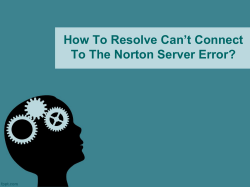 How To Resolve Can't Connect To The Norton Server Error-converted