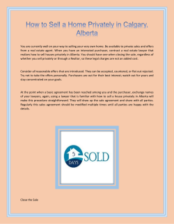 How to Sell a Home Privately in Calgary