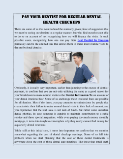Pay Your Dentist For Regular Dental Health Checkups