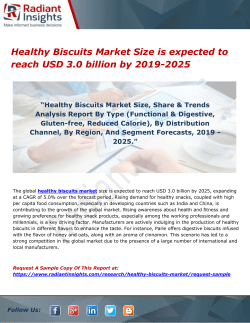 Healthy Biscuits Market Size is expected to reach USD 3.0 billion by 2019-2025