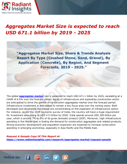 Aggregates Market Size is expected to reach USD 671.1 billion by 2019 - 2025