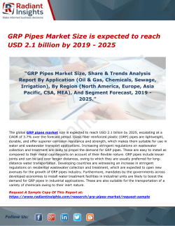 GRP Pipes Market Size is expected to reach USD 2.1 billion by 2019 - 2025