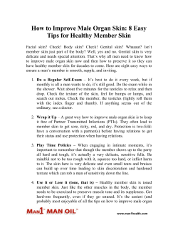 How to Improve Male Organ Skin - 8 Easy Tips for Healthy Member Skin