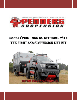 Safety First and Go Off-Road With The Right 4x4 Suspension Lift Kit