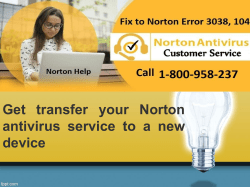 Get transfer your Norton antivirus service to a new device-converted