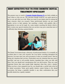 Most Effective Way to Find Cosmetic Dental Treatment Specialist
