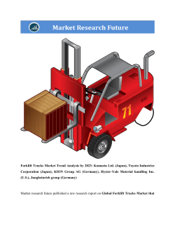 Global Forklift Trucks Market