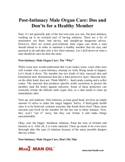 Post-Intimacy Male Organ Care - Dos and Don'ts for a Healthy Member