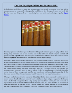 Can You Buy Cigar Online As a Business Gift