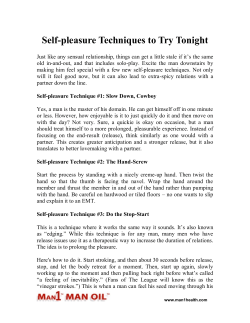 Self-pleasure Techniques to Try Tonight