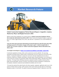 Global Construction Equipment Market