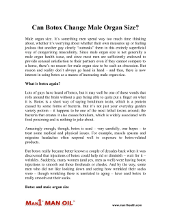Can Botox Change Male Organ Size