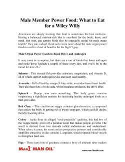 Male Member Power Food - What to Eat for a Wiley Willy
