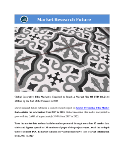 Global Decorative Tiles Market