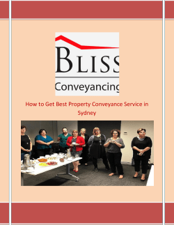 How to Get Best Property Conveyance Service in Sydney