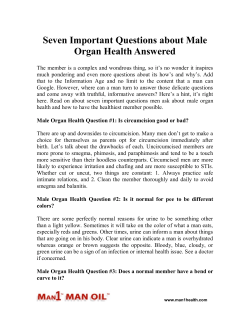 Seven Important Questions about Male Organ Health Answered